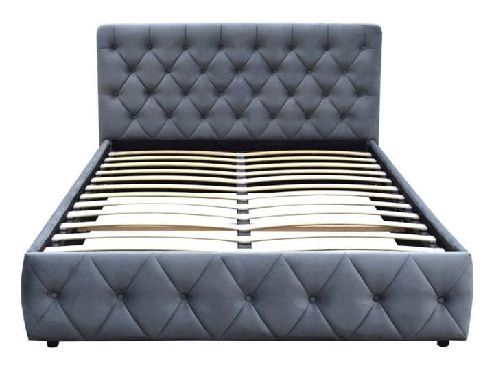 WELUROWE ŁÓŻKO DO SYPIALNI 180X200 SFG088 - SZARY Rozmiar materaca 180x200 cm Kategoria Łóżka do sypialni