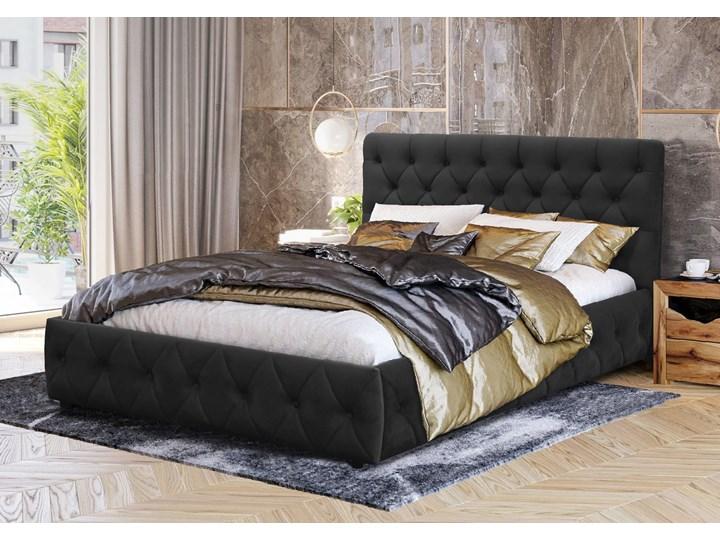 WELUROWE ŁÓŻKO DO SYPIALNI 180X200 SFG088 - CZARNY Rozmiar materaca 180x200 cm Kategoria Łóżka do sypialni