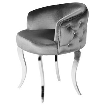 Fotel Cristall Glamur grafit