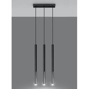 Lampa wisząca punktowa MOZAICA 3L czarny/chrom oprawa na sufit SOLLUX