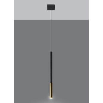 Lampa wisząca punktowa MOZAICA 1 czarny/złoty oprawa na sufit SOLLUX