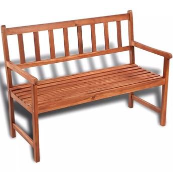 Drewniana ławka ogrodowa Dean - brązowa