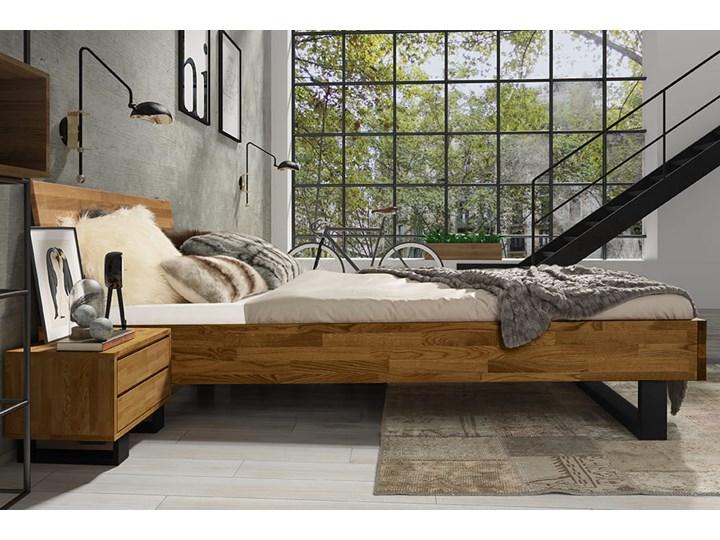 Łóżko dębowe FADO Classic  (160x200) Soolido Meble Kolor Brązowy Łóżko drewniane Kategoria Łóżka do sypialni