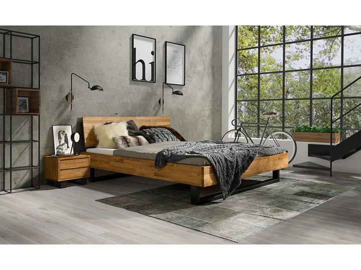 Łóżko dębowe FADO Style (160x200) Soolido Meble Kategoria Łóżka do sypialni Łóżko drewniane Kolor Brązowy