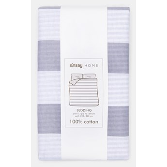 Sinsay - Komplet pościeli z bawełny 200x220 - Jasny szary