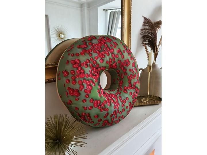 Poduszka Pączek Donut Zielony BIG Poduszka dekoracyjna Wzór Z nadrukiem Poszewka dekoracyjna Okrągłe Poliester Kategoria Poduszki i poszewki dekoracyjne