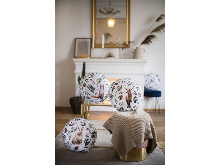 Poduszka  Zając  Akwarela Poduszka dekoracyjna 45x45 cm Okrągłe Poliester Pomieszczenie Salon