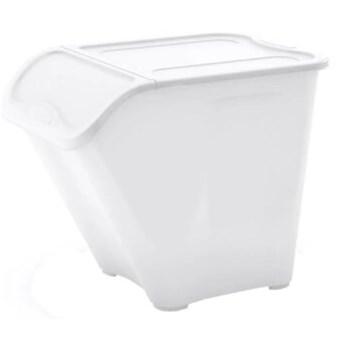 Kosz na śmieci CURVER 237175 All In Box L 40L Biały