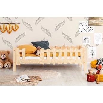 Drewniane łóżko dziecięce ze stelażem 12 rozmiarów  - Tiffi 2X