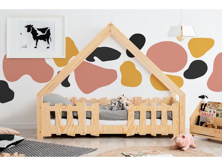Drewniane łóżko dziecięce w formie domku 12 rozmiarów - Tiffi 4X