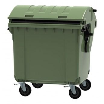 Plastikowy kontener na odpady CLE 1100, zielony