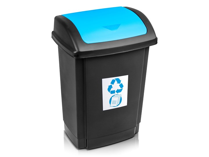 Kosz do segregacji śmieci SWING z pokrywą 25 L - oficjalny sklep internetowy YORK Metal Kategoria Kosze na śmieci Kosz z pokrywą Tworzywo sztuczne Kolor Czarny