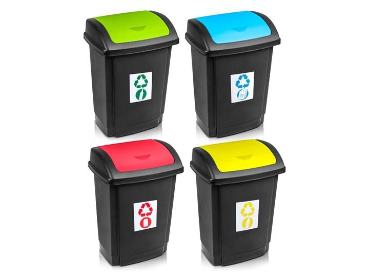 Kosz do segregacji śmieci SWING z pokrywą 25 L - oficjalny sklep internetowy YORK Metal Tworzywo sztuczne Kosz z pokrywą Kategoria Kosze na śmieci