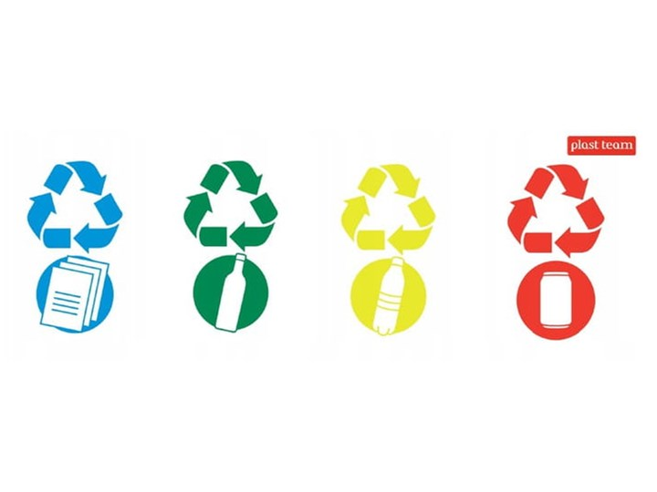 Kosz do segregacji śmieci SWING z pokrywą 25 L - oficjalny sklep internetowy YORK Kosz z pokrywą Tworzywo sztuczne Metal Kategoria Kosze na śmieci