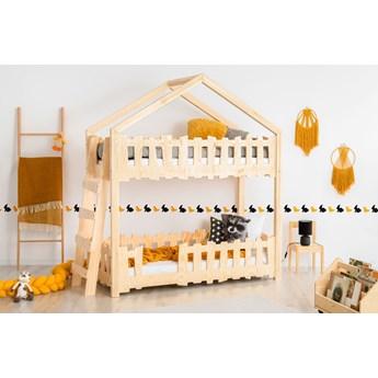 Łóżko piętrowe dziecięce drewniane - Zorin 4X