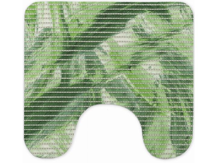 E-floor Komplet Łazienkowy PCV Zielony Liście 50x65 cm Dywanik 45x50 cm Prostokątny Kategoria Dywaniki łazienkowe