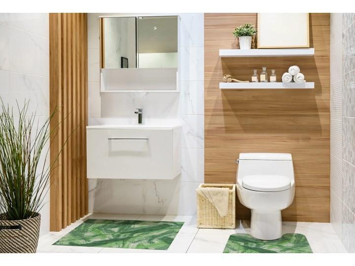 E-floor Komplet Łazienkowy PCV Zielony Liście 50x65 cm Dywanik Prostokątny 45x50 cm Kategoria Dywaniki łazienkowe