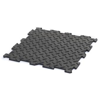 E-floor Płytka Uniwersalna  Alpha Tile Czarna