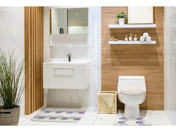 E-floor Komplet łazienkowy Harmony Ivory Fioletowe Kwadraty 50x70 cm Dywanik 40x50 cm Prostokątny 47x51 cm Kategoria Dywaniki łazienkowe