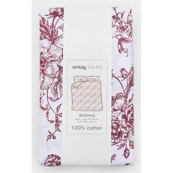 Sinsay - Komplet pościeli z bawełny 200x220 - Bordowy