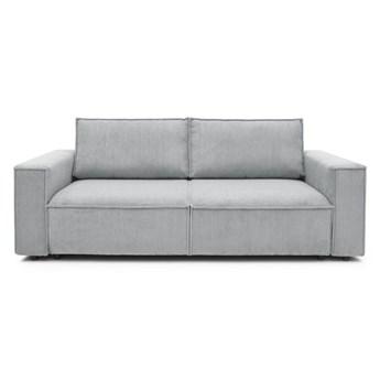 Jasnoszara sztruksowa sofa rozkładana Bobochic Paris Nihad, 245 cm
