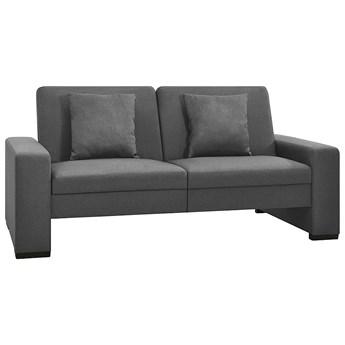 Dwuosobowa jasnoszara rozkładana sofa z tkaniny - Arroseta 2S