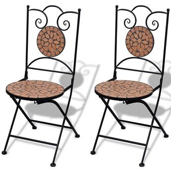 Zestaw ceramicznych krzeseł ogrodowych Leah - brązowy