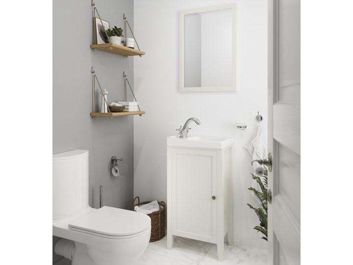 Umywalka ceramiczna Lana 44 cm Kategoria Umywalki Prostokątne Szkło Ceramika Kolor Biały