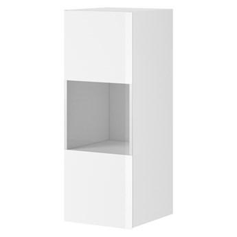 Szafka wisząca HELIO HE07 biały / białe szkło