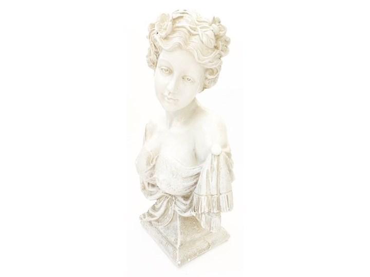 POPIERSIE DEKORACYJNE BIAŁE DECORATIVE BUST 21x12x31 h CM Tworzywo sztuczne Kamień Kolor Biały Kategoria Figury i rzeźby