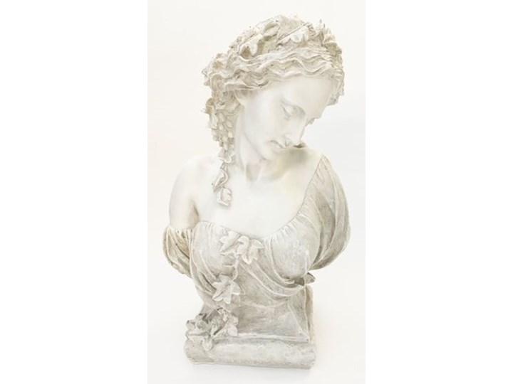 POPIERSIE DEKORACYJNE BIAŁE DECORATIVE BUST NO 3 30x19x49h Kolor Biały Tworzywo sztuczne Kamień Kategoria Figury i rzeźby
