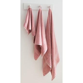 Sinsay - Bawełniany ręcznik 50x100 - Różowy