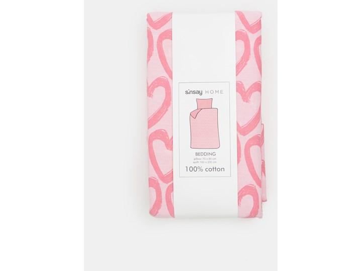 Sinsay - Komplet pościeli z bawełny 160x200cm - Różowy Bawełna 160x200 cm Pomieszczenie Pościel do sypialni Kategoria Komplety pościeli