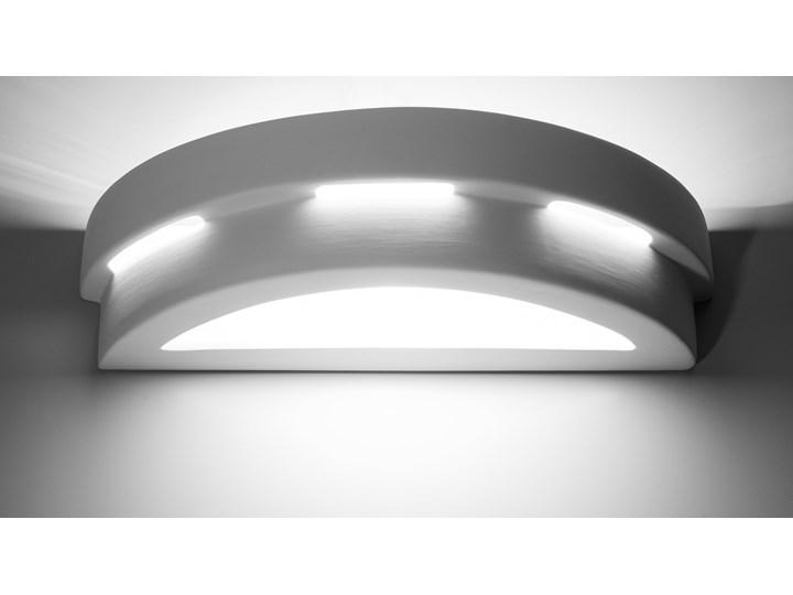 SOLLUX Efektowna lampa ścienna półokrągły kinkiet ceramiczny HELIOS Ceramika Kinkiet dekoracyjny Kinkiet łazienkowy Kinkiet LED Szkło Styl Nowoczesny