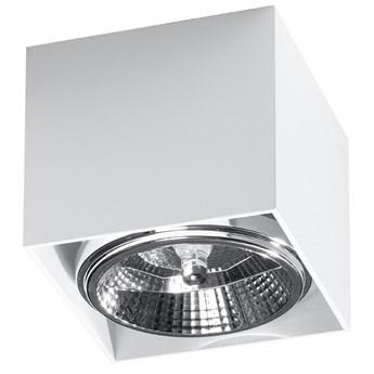 SOLLUX Stylowa Oprawa Kwadrat Plafon BLAKE Biały Aluminium Lampa do Salonu Sypialni Nowoczesny Styl Oświetlenie Żarówka GU10 LED