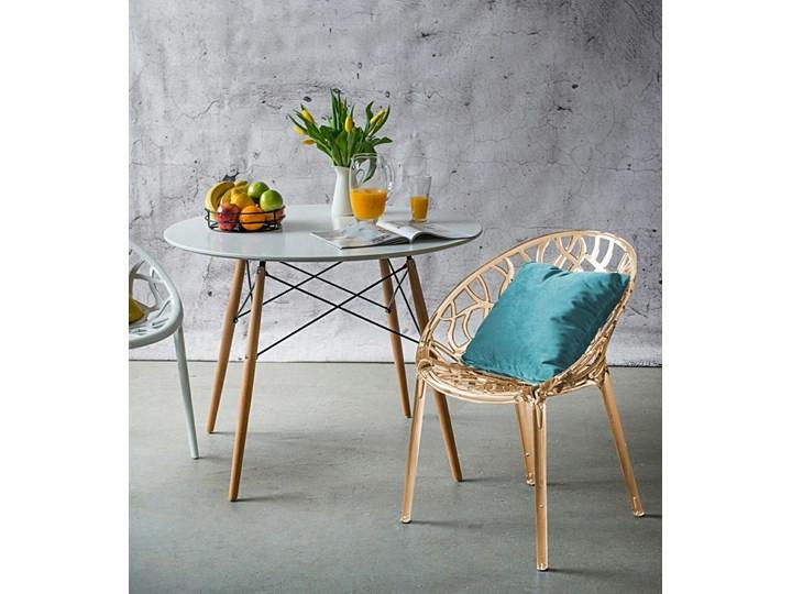 Krzesło Coral bursztynowe Pomieszczenie Salon Głębokość 60 cm Szerokość 59 cm Wysokość 80 cm Styl Nowoczesny
