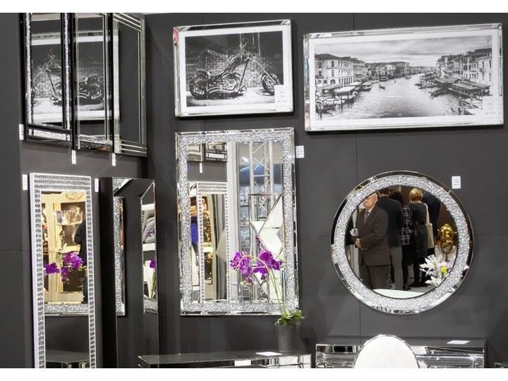 Lustro z kryształkami Angelitta II Glamur Okrągłe Ścienne Pomieszczenie Salon Lustro bez ramy Styl Nowoczesny
