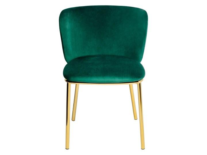 Krzesło MANTIS  zielony aksamit , nogi złote Tkanina Wysokość 76 cm Szerokość 55 cm Kategoria Krzesła kuchenne Welur Metal Tapicerowane Głębokość 53 cm Styl Nowoczesny