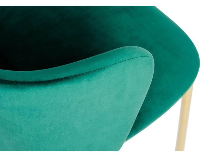 Krzesło MANTIS  zielony aksamit , nogi złote Metal Wysokość 76 cm Szerokość 55 cm Welur Tapicerowane Kolor Złoty Głębokość 53 cm Tkanina Styl Nowoczesny