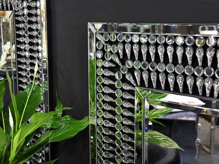 Lustro z  kryształkami Careo Cristall Ścienne Lustro bez ramy Prostokątne Kolor Srebrny Kategoria Lustra