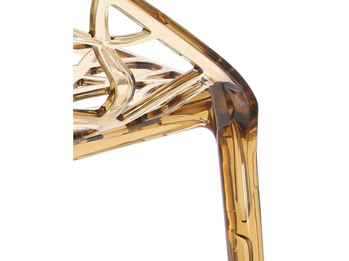 Krzesło Coral bursztynowe Wysokość 80 cm Głębokość 60 cm Szerokość 59 cm Styl Glamour