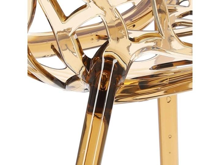 Krzesło Coral bursztynowe Głębokość 60 cm Styl Glamour Wysokość 80 cm Szerokość 59 cm Styl Industrialny
