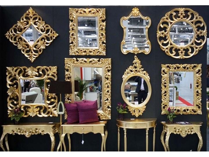 Lustro złote Glamur Barocco 58 Prostokątne Ścienne Lustro z ramą Kolor Złoty