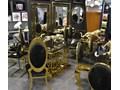 Lustro CLEO GLAMUR GOLD RING Okrągłe Lustro z ramą Ścienne Pomieszczenie Salon Pomieszczenie Przedpokój