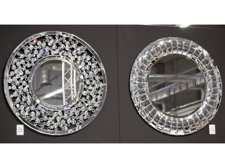Lustro z kryształkami Angelitta Cristall okrągłe Ścienne Lustro bez ramy Kategoria Lustra