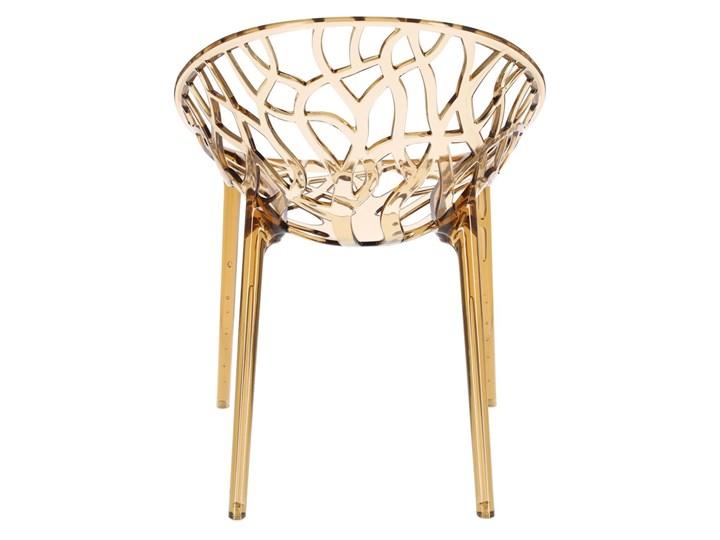 Krzesło Coral bursztynowe Szerokość 59 cm Wysokość 80 cm Głębokość 60 cm Styl Industrialny Styl Glamour