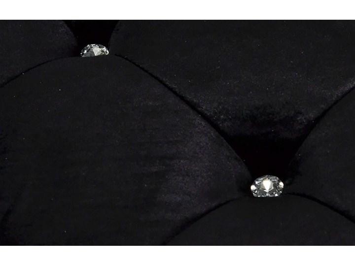 Pufa Estillo Glamur Black 140 kryształki Tradycyjna Styl Nowoczesny