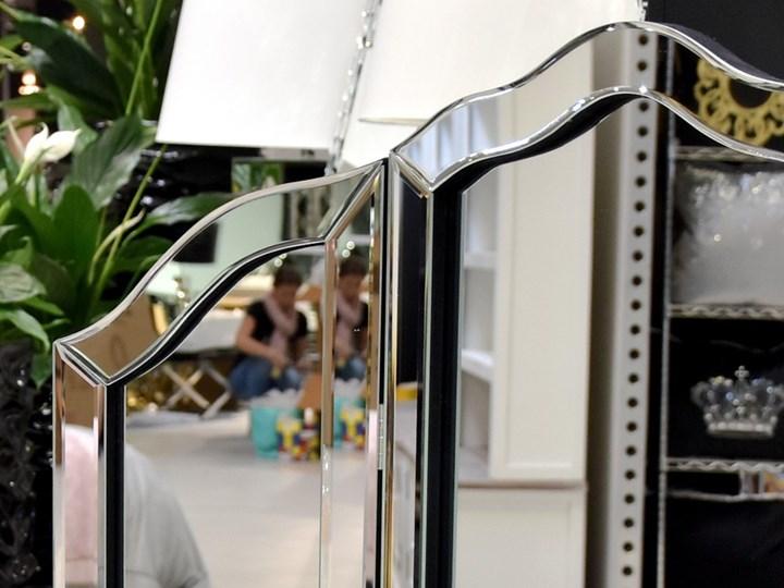 Lustro 3 - częściowe glamur  54x78cm Lustro z ramą Kolor Srebrny Stojące Nieregularne Lustro bez ramy Kategoria Lustra