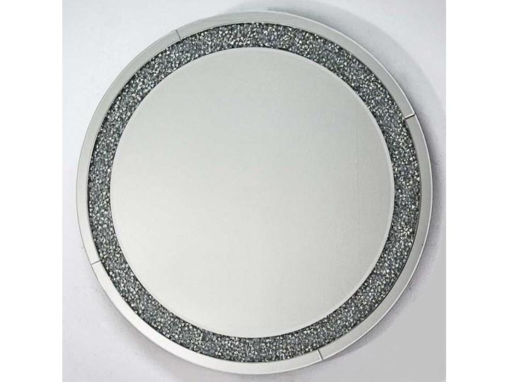 Lustro z kryształkami Angelitta II Glamur Lustro bez ramy Pomieszczenie Przedpokój Ścienne Okrągłe Styl Nowoczesny