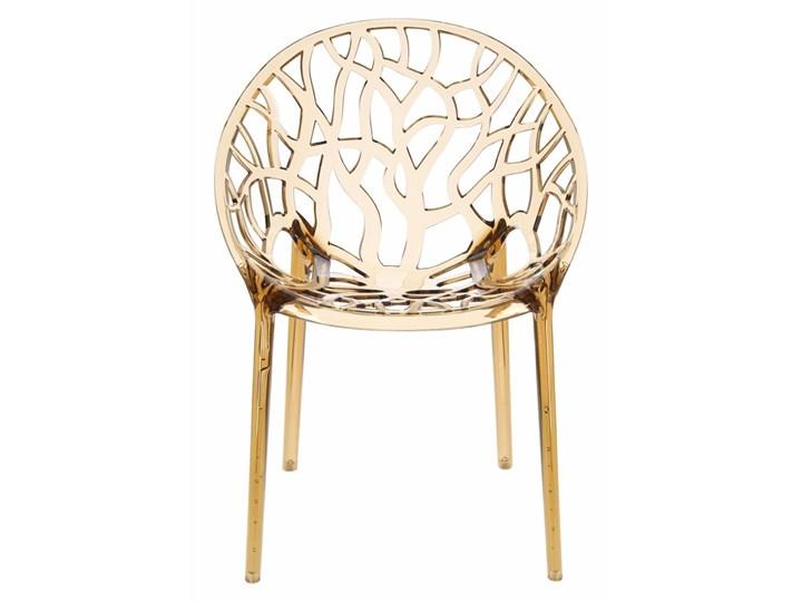 Krzesło Coral bursztynowe Szerokość 59 cm Wysokość 80 cm Głębokość 60 cm Styl Glamour